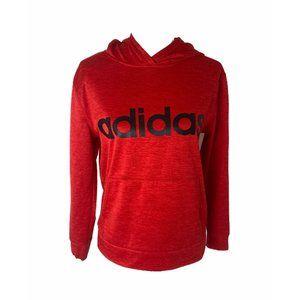 ~Boys size large adidas big logo red hoodie